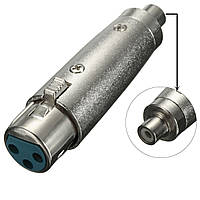 3Pin Коннектор XLR гнездовой разъем для подключения аудио адаптера для Микрофон