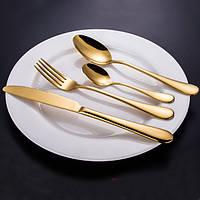 KCASA™ из нержавеющей стали золотой западной кухни посуда столовые приборы вилка ножа и ложки Посуда множество