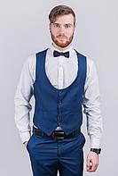 Жилет мужской под костюм мужской №276F022 (Темно-синий)