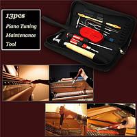 13шт Профессиональный набор инструментов для настройки фортепиано для фортепиано Hammer Отвертка с Чехол