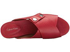 Сандали/Вьетнамки (Оригинал) Calvin Klein Pamice Lipstick Red Leather, фото 2