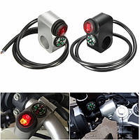 12v 16а 22мм свет фар сигнал на выключатель с компасом для мотоцикла руль