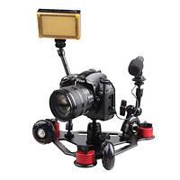 Настольные камеры вагон стол Dolly мини 3 черный колесо видео слайдер трек для DSLR видеокамеры