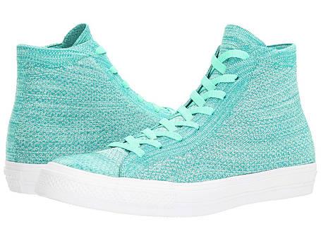 Кроссовки/Кеды (Оригинал) Converse Chuck Taylor® All Star® X Nike Flyknit Hi Green Glow/Teal, фото 2