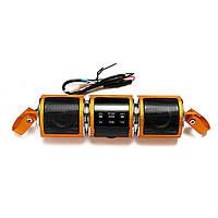 Водонепроницаемый мотоцикл руль стерео-колонки MP3 USB FM с функцией Bluetooth