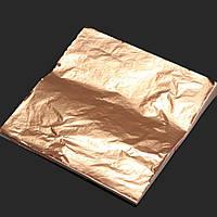 100 шт листов имитация меди лист фольги золочение корабль искусства 14x14cm