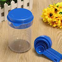 500ML Пластмассовое ремесло Чай Чашка для измерения ложки с ложками для лаборатории