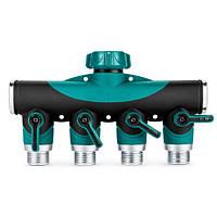3/4 дюйма садовый шланг 4 способа разветвитель воды труба кран запорный клапан коннектору нам стандартную резьбу
