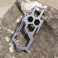 Многофункциональная нержавеющая сталь EDC карабины инструмент пряжка крюка