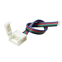 10мм ширина печатной платы разъем провода 4-контактный разъем для водонепроницаемый RGB LED полосы