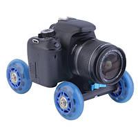 Мини рабочего стола шкив Дрейф рельса слайдера качению дорожки тележками автомобиль для видеокамеры зеркальную камеру