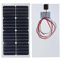 20w 12v 54см х 28см фотоэлектрические полу гибкой панели солнечных батарей с кабелем 3 м