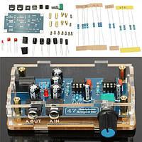 DIY HIFI Наушники Усилитель Отдельный блок питания AMP Набор с прозрачным корпусом