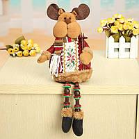 Рождественские украшения дома , сидя милый олень орнамент фланель игрушка подарок