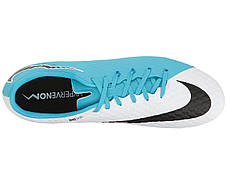 Кроссовки/Кеды (Оригинал) Nike Hypervenom Phelon III FG White/Black/Photo Blue/Chlorine Blue, фото 2