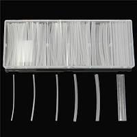 150pcs прозрачные полиолефин 2: 1 безгалогеновый термоусадочная трубка комплект 6 размеры