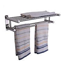 Двойной хром настенный ванной вешалка для полотенец держатель из нержавеющей стали