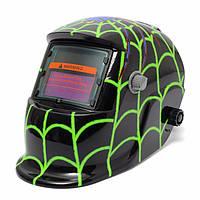 Новый стиль зеленый паук солнечной сварщика маски автоматического затемнения сварочный шлем дуги ТИГ