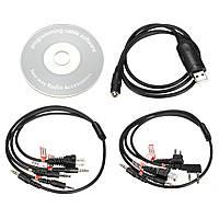 8 в 1 USB кабель для программирования для Motorola Baofeng Kenwood радиоприемников & мобильных радиостанций