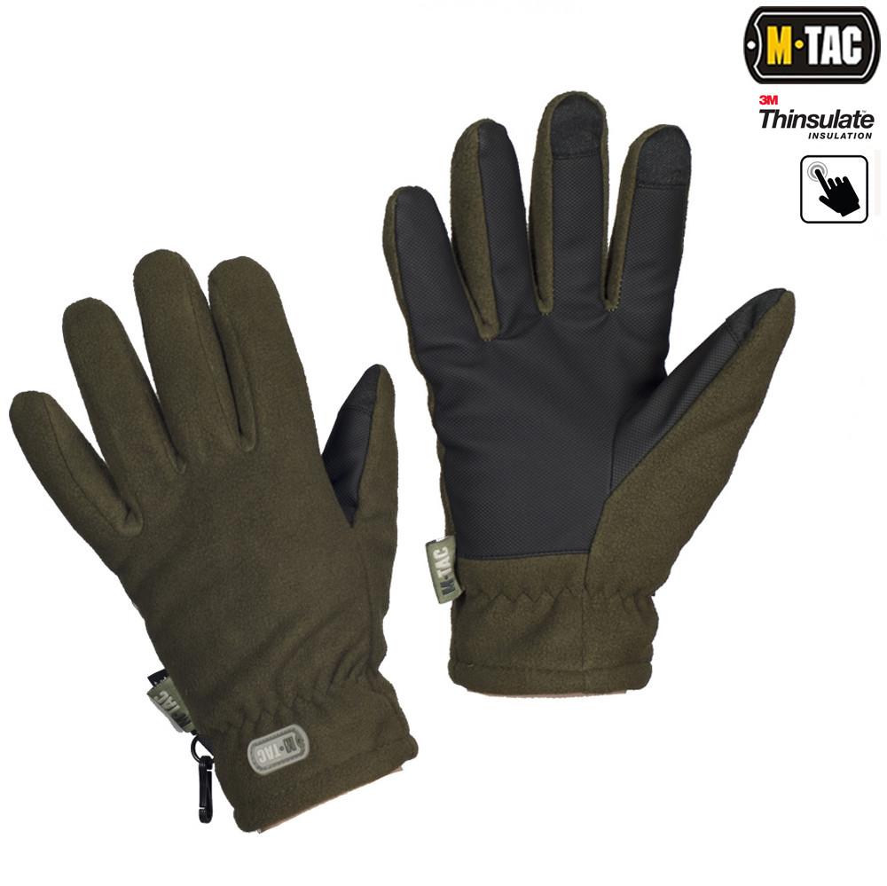 Перчатки зимние Fleece Thinsulate оливковые