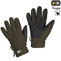 Перчатки зимние Fleece Thinsulate оливковые, фото 1