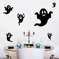 Творческий Хэллоуин украшения дом с привидениями стеклянные стены стикеры детей спальни стикер стены искусства
