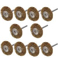 10 штук 3мм хвостовиком латунная проволока колеса щетки для вращающегося инструмента Dremel