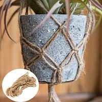40 дюймов Цветочный горшок Растение Вешалка Макраме джут Веревка Крытый Outdooors Декоративный шнур