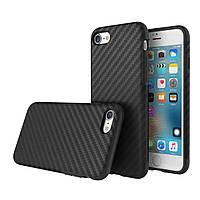 Рок углерода серии волокна TPU пу случай телефона оболочки защитная задняя крышка протектор для кожи iPhone 7