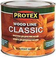 Защитная пропитка для дерева  WOOD LINE CLASSIC Protex дуб светлый 2.1 л