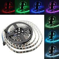 5м 72W черный печатных плат SMD 5050 водонепроницаемый ip65 300 RGB LED полосы света лампа для декора освещение 12 В постоянного тока