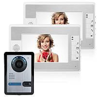 Эннио sy813fa12 7-дюймовый комплект видео домофон дверной звонок домофон 1 камера 2 монитор ночного видения