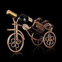 Металлический трехколесный велосипед винную стойку держатель шампанского показывая стенд вина шампанского стойку домашнего декора