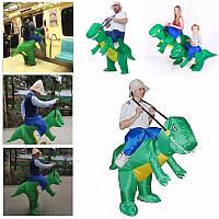 Дети надувные динозавр T-Rex костюмированный унисекс костюм Дино наездник