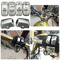 Управления мотоцикла комплект кнопка включения крышка Крышка для Харлей Softail Dyna Sportster