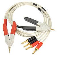 LCR метр низкое сопротивление приводит банан штекер кабеля зажим для испытания терминала температур порядка