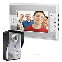 Эннио sy813mkw11 7-дюймовый видео домофон дверной звонок Интерком комплект с камерой ночного видения и монитор