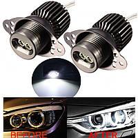 Пара 20w LED глаза ангела ошибка лампы гало кольцо света боковой габарит бесплатно BMW E90 E91