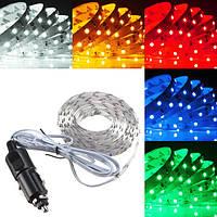 2.5м LED гибкий свет прокладки 150 SMD 3528 сигарет зарядное устройство автомобили грузовые автомобили приборных панелей декора DC24V