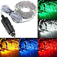 2m LED гибкий свет прокладки 120 SMD 3528 сигарет зарядное устройство автомобили грузовые автомобили приборных панелей декора DC12V