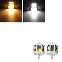 Затемняемый R7s 78мм 8w 60 СМД 4014 LED черная тарелка теплый белый белый лампа лампочка AC220V/AC110V