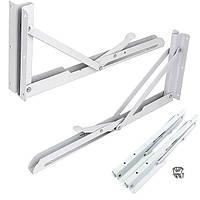 2pcs 340x140mm белый релиз металлической опоры задвижка скамейка стол складной полки кронштейн