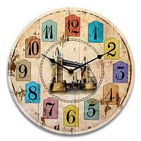 Старинные круглый лес часы настенные деревянные реминисценция стиль декора