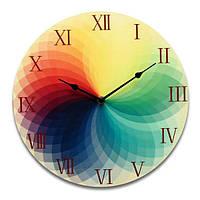 Многоцветные круглые деревянные стены часы красочные деревянные старинные сельский стиль декора