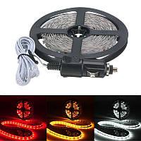 5м LED гибкий свет прокладки 300 SMD 3528 сигарет зарядное устройство автомобили грузовые автомобили приборных панелей декора DC12V