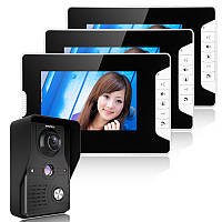 Enniosy813mk13 7inch TFT ЖК-видео домофон дверной звонок домофон комплект 1 камера 3 монитора ночного видения