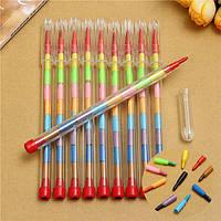 10pcs цветные мелки карандаш комплект 10 цветов воска нетоксичен малыша наполнителя