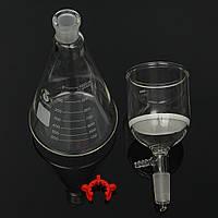 Комплект фильтрации стекла всасывающий фильтр 350мл бюхнеровская воронка 1000ml колбу Эрленмейера