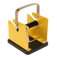 Железа пайки сварочный инструмент стенд проволоки припоя стоять желтый
