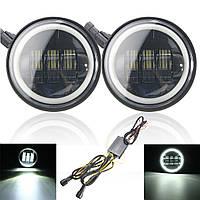 4 дюйма LED вождение вспомогательные лампы для фар с боков мотоцикла Харлей Jeep Wrangler